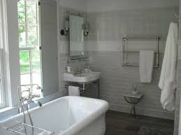 Mirrored Subway Tile Backsplash Bathroom Transitional With by White And Grey Bathroom Transitional Bathroom Talk Of The House