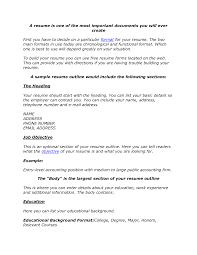 best resume outline resume for your job application