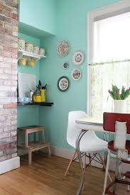 love me some turquoise mixed with an exposed brick wall u003d swoon