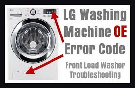 lg front load washing machine error code oe how to clear