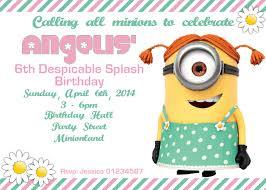minion birthday party invitations image collections invitation