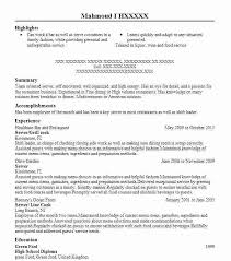 resume restaurant waiter resume sample server best example