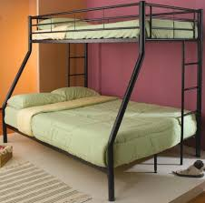3 Person Bunk Bed Bedroom Black Painted Metal Bunk Bed For For 3 Person With
