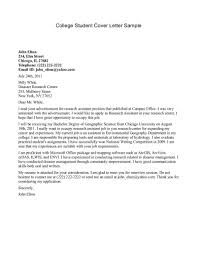 Modern Cover Letter Template by Neat Design Cover Letter For College Student 4 College Student