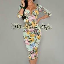 va va voom dresses va va voom dresses skirts mint green floral 34 sleeve midi