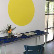 le de bureau bleu mon deuxième bureau déco en tissu wax wax and desks