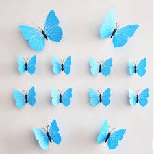 amazon com mlm 12pcs 3d monochrome butterfly wall stickers with