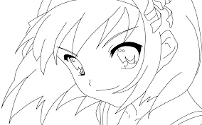 anime coloring pages for adults in color eson me