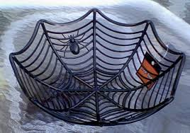 halloween candy deals amazon com spiderweb serving bowl for halloween candy home u0026 kitchen