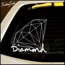 diamond car diamond supply co vinyl decal for car or truck window custom