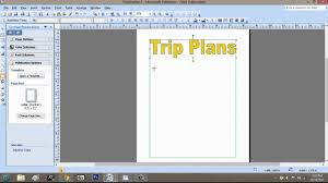 graphic design program how to make a trip itinerary using microsoft publisher microsoft