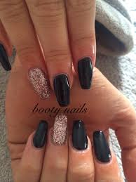 grey and silver autumn nails coffin grey sparkle silver acrylics