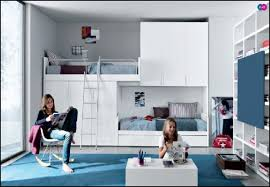 White Bedroom With Blue Carpet Girls Bedroom Contemporary Blue Teenage Bedroom Decoration