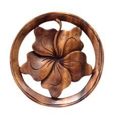 wooden designs wood relief panel u0027balinese hibiscus flower u0027 hibiscus flowers