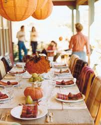 the rustic al fresco thanksgiving note the different
