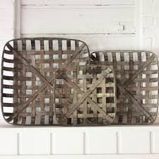 tobacco baskets set of 3 tobacco basket coffee table tray and