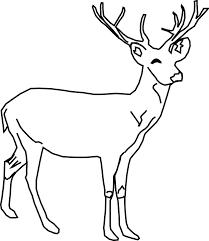 gambar vektor gratis rusa sketsa hewan berdiri gambar gratis