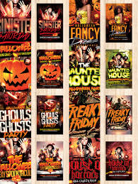 halloween flyer template mega bundle bonus posters and mockups