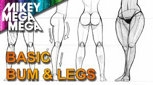 How To Draw Female Anatomy How To Draw Female Manga Bums And Legs With Mikey Mega Mega Youtube