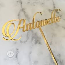 name cake topper personalised script name cake topper farfalla creations