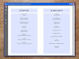 printable wedding program deco e m papers