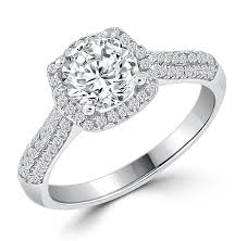 luxury engagement rings images Luxury silver engagement ring jpg
