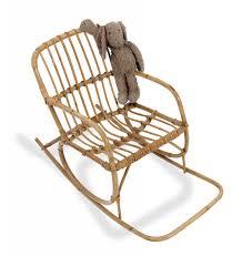 chaise vintage enfant fauteuil à bascule vintage lucky en osier pour enfant