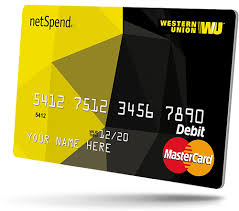 prepaid credit card wu netspend prepaid card western union