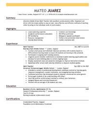 exles of resumes for teachers sle resume best resume exle livecareer
