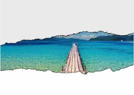 stickers livres trompe l oeil sticker trompe l u0027oeil paysage de tahiti