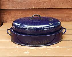 savory roaster savory enamelware etsy
