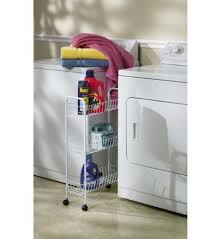 Laundry Room Storage Cart Household Essentials Slim Line 3 Tier Metal Storage Cart White