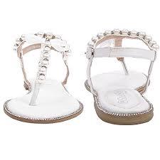 wedding shoes dubai shesole womens wedding shoes flat white sandals pearls buy
