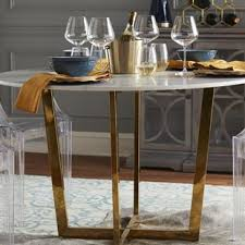White Marble Dining Tables Faux White Marble Dining Table Wayfair