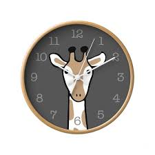 giraffe nursery wall clock kids room decor u2013 latte design