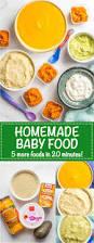 homemade baby food quinoa peaches avocado pumpkin and cottage
