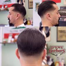 slick back haircut with a razor fade cut by gabriel yelp