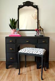 Black And Mirrored Bedroom Furniture Bedroom Narrow Makeup Vanity Black Vanity Table Vanity Mirror