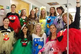 sesame street halloween costumes adults costumed pets nurses entertain soothe children u0027s hospital patients