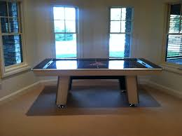 air hockey table over pool table hoops plus let the games begin game tables
