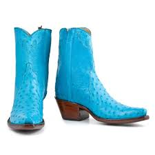mens ostrich ankle zipper turquoise u2013 back at the ranch