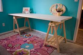 Adjustable Height Work Desk by Ana White Adjustable Height Sawhorses Diy Projects