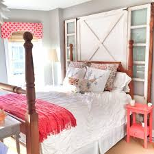 Shabby Chic Bed Frames Sale by Barn Door Headboard For Sale Brown Stained Log Wood Bed Combined