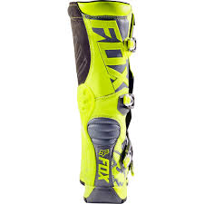 fox youth motocross boots fox racing 2017 mx new kids comp 5 flo yellow grey youth motocross