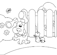 blues clues playing garden coloring pages kids c8q