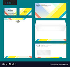 stationery set modern stationery set in format letterhead vector image