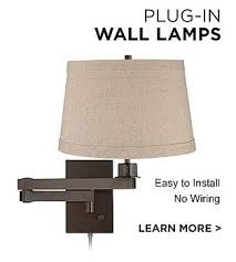 Plug In Wall Lights Wall Lamps Decorative Wall Mounted Lamp Designs Lamps Plus