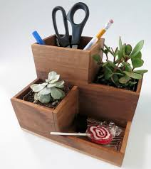 Desk Organizer Diy Diy Desk Organizer And Succulent Planter Diyideacenter