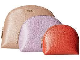 furla babylon cosmetic case set in pink lyst