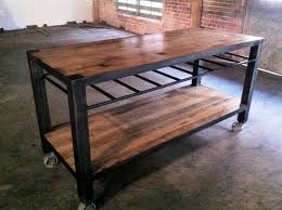 reclaimed kitchen island vintage industrial reclaimed wood kitchen island designs ideas